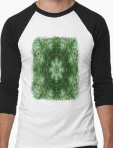 Green Stripes Kaleidoscope 5 Men's Baseball ¾ T-Shirt