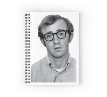 Woody Allen Photo Illustration Spiral Notebook