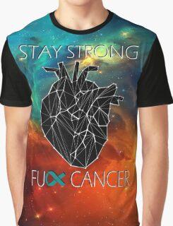Fuck Cancer // Galaxy //  Geo Heart // Ovarian   Graphic T-Shirt