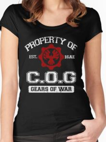 Property of COG - White Women's Fitted Scoop T-Shirt