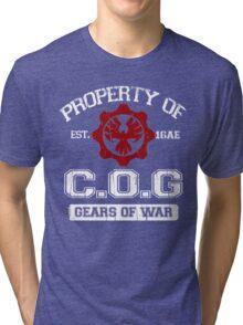 Property of COG - White Tri-blend T-Shirt