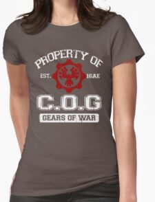 Property of COG - White Womens Fitted T-Shirt