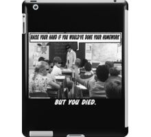 Funny Ads- Nationwide Dead Kid Homework Excuse iPad Case/Skin