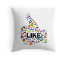 Like Social Media Throw Pillow