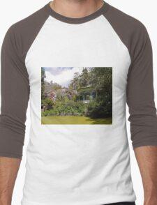 Band Rotunda, Cataract Gorge, Launceston, Tasmania Men's Baseball ¾ T-Shirt