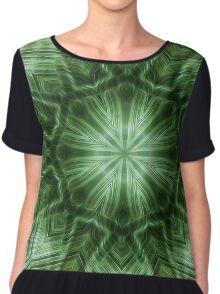Green Stripes Kaleidoscope 3 Chiffon Top