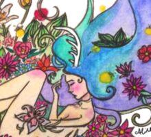Sleeping Antler Girl  Sticker