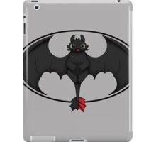 Toothless White Batman Symbol Transparent iPad Case/Skin