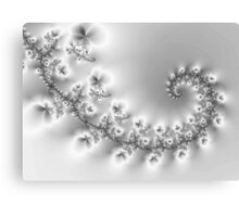Crystal Floral Fractal Vine Canvas Print