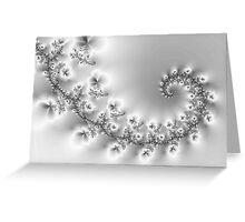 Crystal Floral Fractal Vine Greeting Card