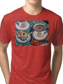 Tea for Three - Tea and Cake Section  Tri-blend T-Shirt