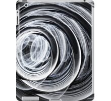 Spiral Whorl Abstract Geometric Black and White iPad Case/Skin