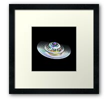 Fractal Flying Saucer Framed Print
