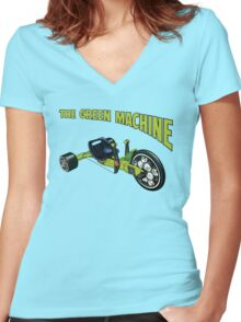 The Green Machine Women's Fitted V-Neck T-Shirt