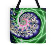 Covered In Rain - A Musical Fractal Tote Bag
