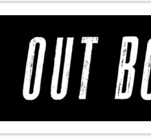 Fall Out Boobs - Black Sticker