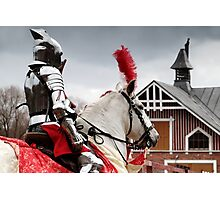 24.4.2016: Knight and Horse Photographic Print