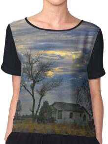 All Is Quiet in the Country Chiffon Top