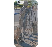 The Pennyfarthing cyclist and his dog  iPhone Case/Skin