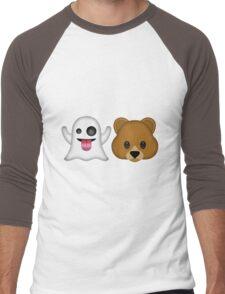 Ghost Bear 53 Emoji Men's Baseball ¾ T-Shirt