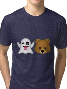 Ghost Bear 53 Emoji Tri-blend T-Shirt