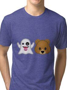 Ghost Bear 53 Emoji Tri-blend T-Shirt