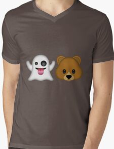 Ghost Bear 53 Emoji Mens V-Neck T-Shirt