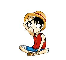 one piece luffy Photographic Print