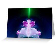 Magical Light Factal Lamp   Greeting Card