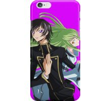 lelouch and C back to back iPhone Case/Skin