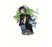 lelouch and C back to back Art Print