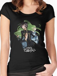lelouch and C back to back Women's Fitted Scoop T-Shirt