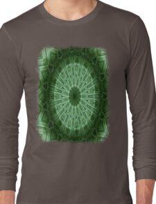 Green Stripes kaleidoscope 1 Long Sleeve T-Shirt