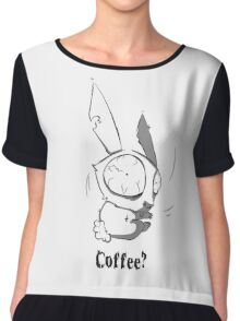 Caffeinated Bunny Chiffon Top