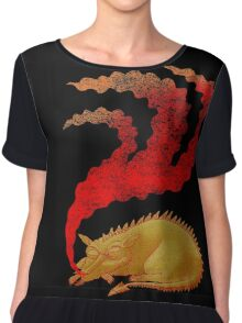 Snoring Dragon Women's Chiffon Top