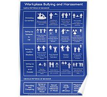 Workplace Bullying and Harassment Poster - US Version Poster
