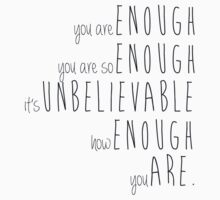 you are enough - sierra boggess Kids Tee