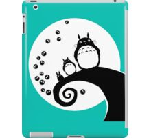 totoro the friendly neighbour nightmare before christmas  iPad Case/Skin