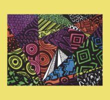 Abstract Fluoro Geometric 1  Kids Tee
