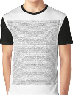 bee movie script Graphic T-Shirt
