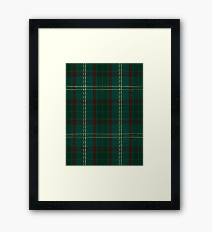 00300 Armagh County District Tartan  Framed Print