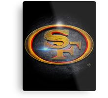 San Francisco 49ers - Men of Gold Emblem Metal Print