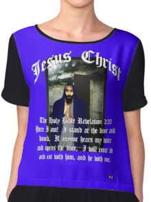 JESUS CHRIST Revelation 3:20 Chiffon Top