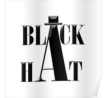 """Black Hat"" typography Poster"