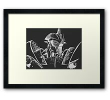 Transformers Prime: Knock Out (Silver and Black) Framed Print