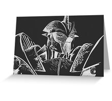Transformers Prime: Knock Out (Silver and Black) Greeting Card