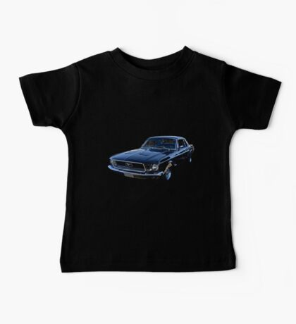 Black Ford Mustang Baby Tee