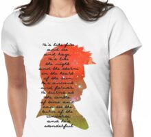 Fire and Ice and Rage, Tenth Doctor, Doctor Who Quote Womens Fitted T-Shirt