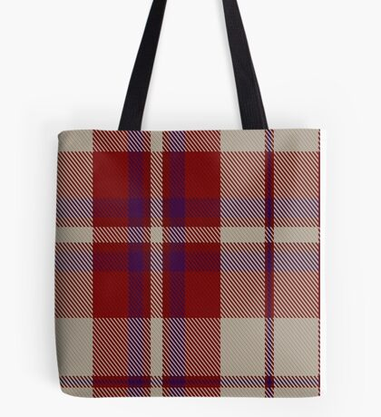 00316 Shiel, Claret (Dance) Tartan  Tote Bag