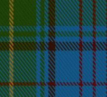 00321 Donegal County Tartan Sticker